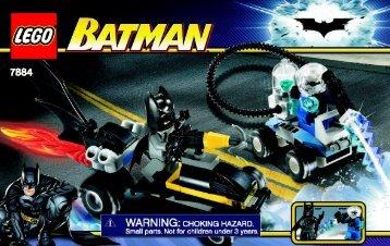 Lego Batman's Buggy: The Escape of Mr. Freeze - 7884 (2008) - The Batman™ Dragster: Catwoman™ Pursuit BI  NA 7884