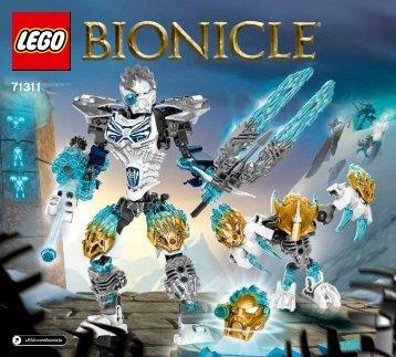 Lego Kopaka and Melum - Unity set - 71311 (2016) - Pohatu Uniter of Stone BI 3017 / 36 - 65g, 71311 V39