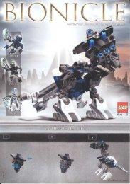 Lego Matoran/Kanoka Co-Pack B - 65503 (2004) - Co-Pack A BUILDING INSTR. 8612