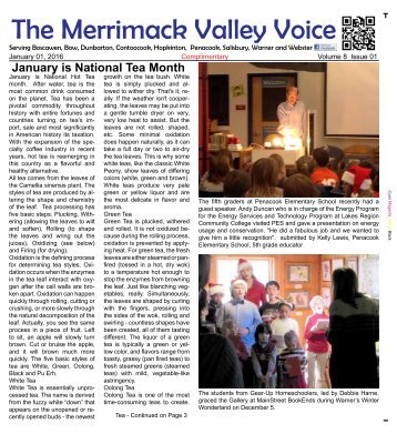 Merrimack Valley Voice - January, 2016
