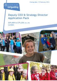Deputy CEO & Strategy Director Application Pack