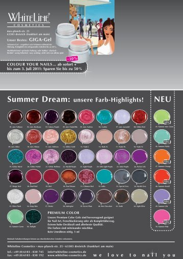 5. Juni 2011• 10:00 - WhiteLine cosmetics