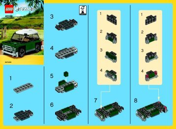 Lego MINI Cooper - 40109 (2014) - Monthly Minibuild August BI 2002/ 2 - 40109 V46