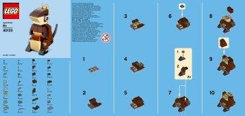 Lego Monthly Mini Build August – Kangaroo - 40133 (2015) - MMB June  - Parrot BI 9005 / 60x50 leaflet - 40133 V39