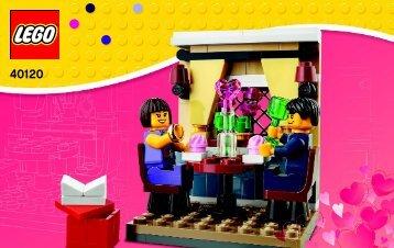Lego Valentine's Day Dinner - 40120 (2015) - Monthly Minibuild August BI 3003/28- 40120 V29