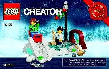 Lego Winter Skating Scene - 40107 (2014) - Monthly Minibuild August BI 3003/28- 40107