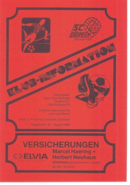 SCD Klub-Information - Ausgabe Nr. 35 August 1994