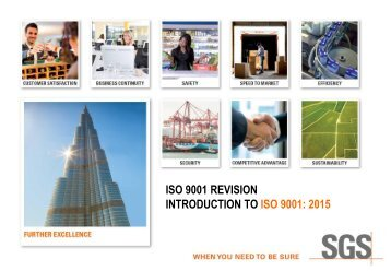 ISO 9001 REVISION INTRODUCTION TO ISO 9001 2015
