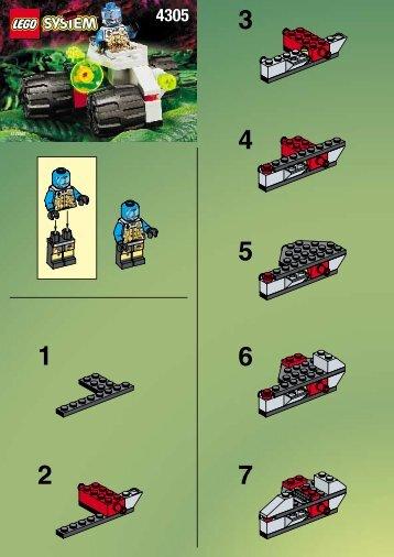 Lego SPACE SCAVENGER ( 6818) - 4305 (1998) - SPACE SCAVENGER ( 6818) BUILDING INSTR. FOR 4305