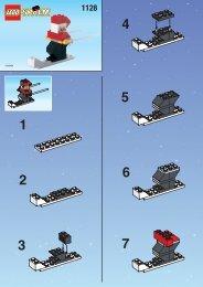 Lego SKIING SANTA - 1128 (1999) - MILK CART BUILD.INST. FOR 1128 IN
