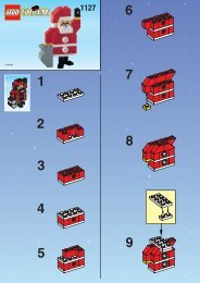 Lego SANTA CLAUS - 1127 (1999) - MILK CART BUILD.INST. FOR 1127 IN