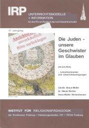 Die Juden - unsere Geschwister im Glauben - Erzbistum Freiburg