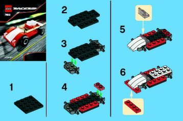 Lego Track Racer - 7613 (2008) - Triceratops BUILD.INSTRUC. 2001, 7613