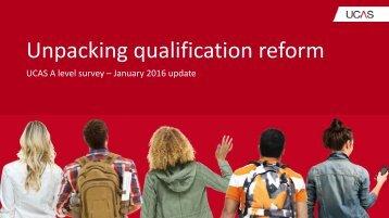 Unpacking qualification reform