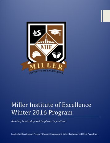 MIE Winter 2016 Program