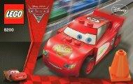 Lego Radiator Springs Lightning McQueen - 8200 (2011) - CARS 1 BI 3003/16 - 8200 V.29