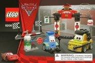 Lego Tokyo Pit Stop - 8206 (2011) - CARS 1 BI 3002/48 - 8206 V39