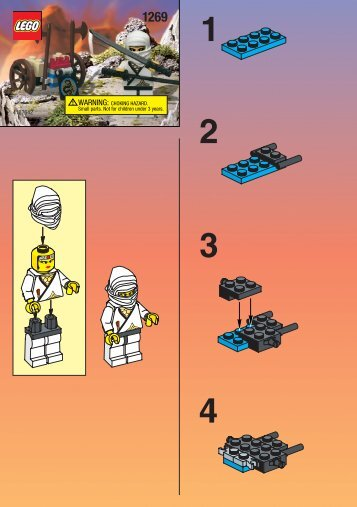 Lego WHITE NINJA (OLD 3076) - 1269 (1999) - WHITE NINJA (OLD 3076) BUILD.INST. FOR 1269 AM