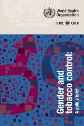 Gender and tobacco control: A policy brief - World Health Organization