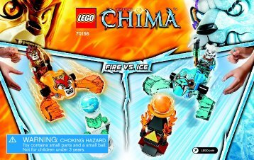 Lego Fire vs. Ice - 70156 (2014) - Flaming Claws BI 3003/36-70156 V39