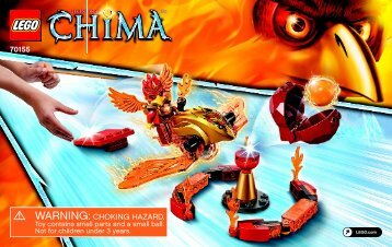 Lego Inferno Pit - 70155 (2014) - Flaming Claws BI 3003/36-70155 V39