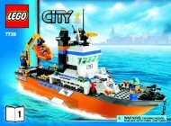 Lego Coast Guard Patrol Boat & Tower - 7739 (2008) - Coast Guard 4WD & Jet Scooter BUILD INSTR 3006, 7739 1/2 NA