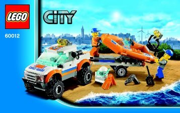 Lego 4x4 & Diving Boat - 60012 (2013) - Coast Guard Platform BI 3004/52 - 60012 V29