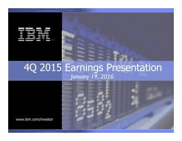 4Q 2015 Earnings Presentation