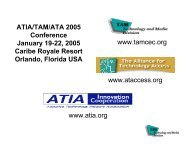 ATIA/TAM/ATA 2005 Conference January 19-22, 2005 Caribe ...