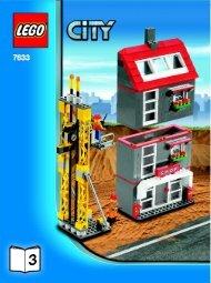 Lego Construction Site - 7633 (2008) - Crawler Crane BUILD INSTR 3006, 7633 3/4