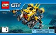 Lego Deep Sea Submarine - 60092 (2015) - Deep Sea Scuba Scooter BI 3004/80+4, 60092 V39 2/2