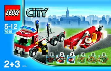 Lego Fire Value-PAck - 66195 (2007) - Fire Station & Base Plate BUILDING INSTR. 2/3 ART. 7945