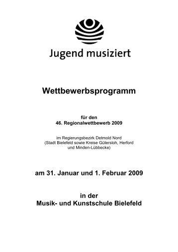 Wettbewerbsprogramm - Musikschule für den Kreis Gütersloh e.V.