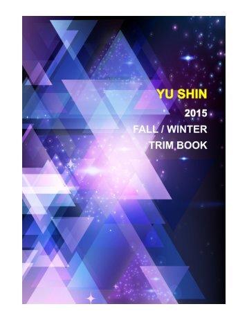 YU SHIN 2015 FALL / WINTER TRIM BOOK