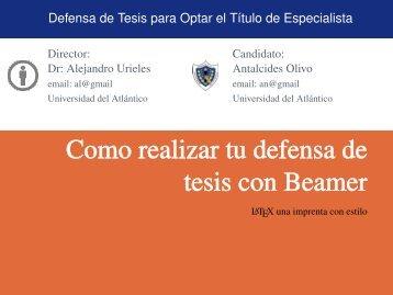 Tesis-Beamer