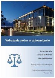 Wdrażanie zmian w sądownictwie