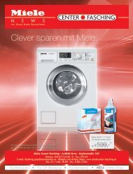 Miele Center Fasching - Clever sparen mit Miele.