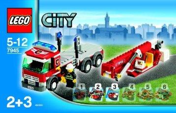 Lego city 7945 2 3 le camion de pompiers mes notices de - Lego city camion police ...