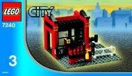 Lego Fire Station & Base Plate - 66107 (2006) - Fire Station & Base Plate BUILDINGINSTR. 7240/3