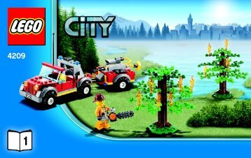 Lego Fire Plane - 4209 (2012) - 4x4 Fire Truck BI 3004 60/ 4209 V29 1/2
