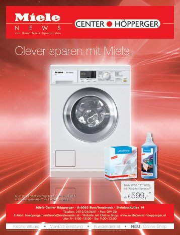 Miele Center Höpperger - Clever sparen mit Miele.