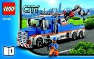Lego Tow Truck - 60056 (2013) - Race Car BI 3004/48 -60056 V29 1/2