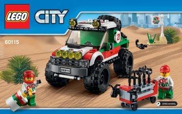 Lego 4 x 4 Off Roader - 60115 (2016) - Dune Buggy Trailer BI 3004/68+4*, 60115 V29