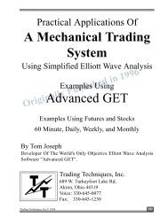 Mechanical Trading System Using Advanced GET