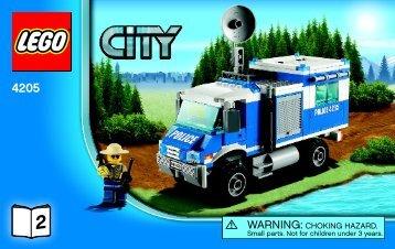 Lego Off-road Command Center - 4205 (2012) - POLICE W. 2 ROAD PLATES BI 3004/80+4*- 4205 V39 2/3