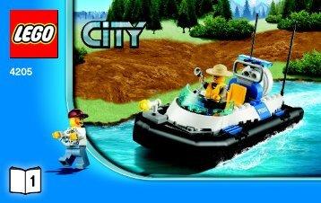 Lego Off-road Command Center - 4205 (2012) - POLICE W. 2 ROAD PLATES BI 3004/36-4205 V29 1/3