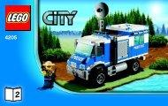 Lego Off-road Command Center - 4205 (2012) - POLICE W. 2 ROAD PLATES BI 3004/80+4*- 4205 V29 2/3