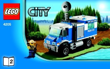 Lego Off-road Command Center - 4205 (2012) - POLICE W. 2 ROAD PLATES BI 3004/80+4*- 4205 V29 2/3