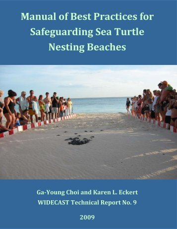 Manual of Best Practices for Safeguarding Sea Turtle Nesting Beaches