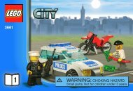 Lego Bank & Money Transfer - 3661 (2011) - POLICE W. 2 ROAD PLATES BI 3010/24 - 3661 V. 39 1/3